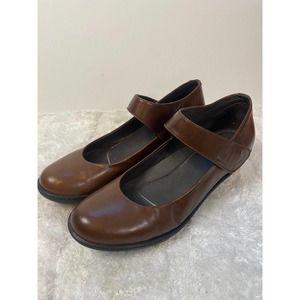 Dansko Bess Mary Jane Heeled Shoes Brown